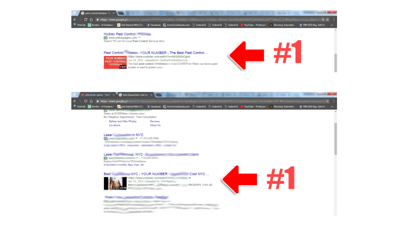Google video rankings